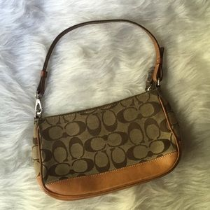 Coach Tan pouchette purse